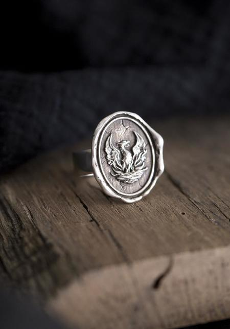 Pyrrha Fire Within Talisman Ring