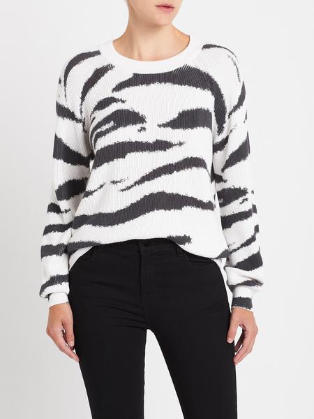 Rails Venus Sweater - White Watercolour Tiger