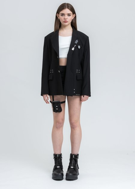 C2H4 Layered Variant Tailored Jacket - Black
