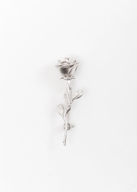 C2H4 Rose Brooch - Silver
