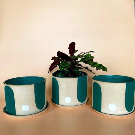 Ava Ceramics Geo Forest Planters - Green
