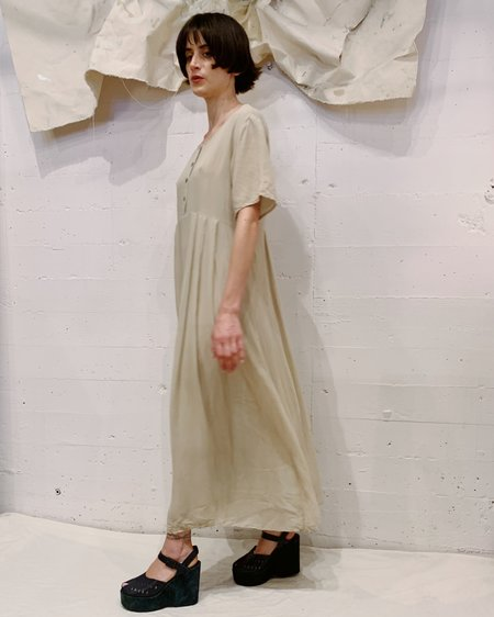 Vintage DKNY Silk Dress - Ecru