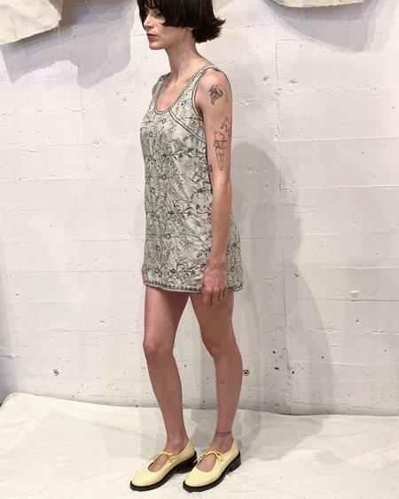Vintage DKNY Embroidered Silk Dress - Multi