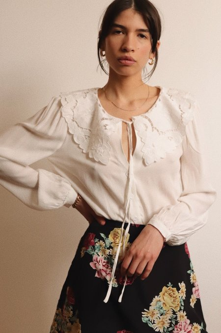 Glamorous Statement Collar Blouse - White