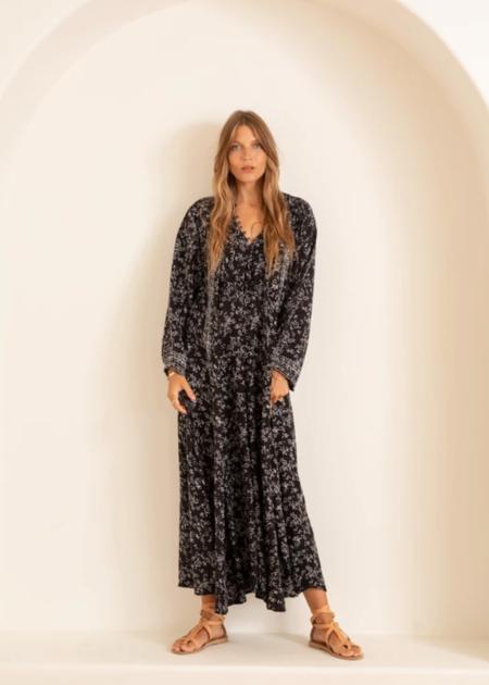 natalie martin fiore maxi dress - bamboo black