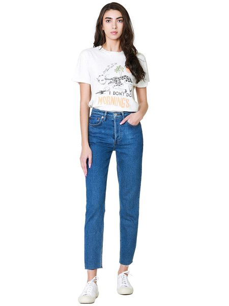 Re/Done 90s High Rise Ankle Crop Jean - Seventies As Fuck