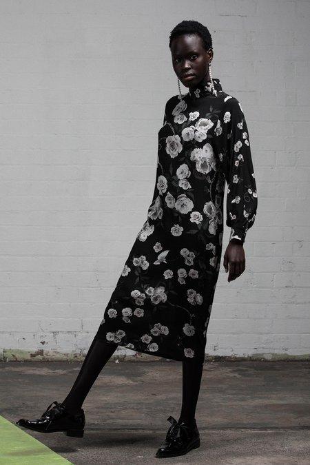 SALASAI SANCTUARY T-DRESS - BLACK ROSE