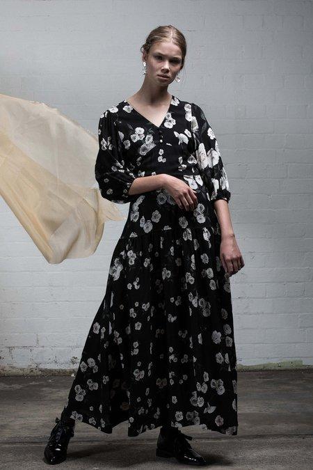 SALASAI UTOPIA DRESS - BLACK ROSE