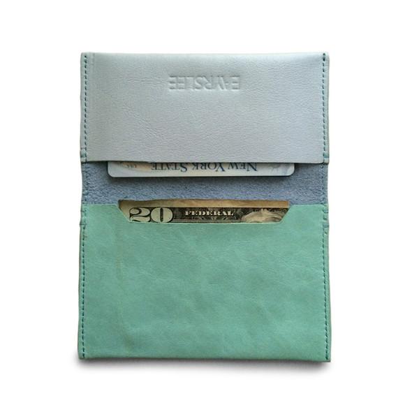 Eayrslee Henry Leather Wallet in Light Blue