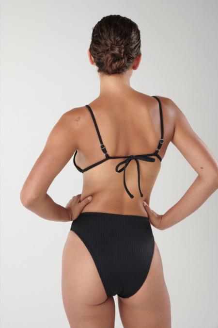 Ookioh Bocas Bikini Top - Black Rib