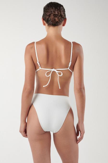 Ookioh Bocas Bikini Top - White Rib