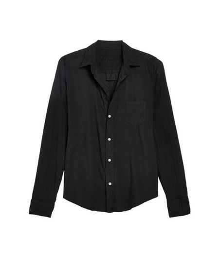 Barry Woven Button Up - Black