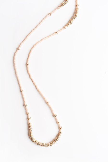 Iwona Ludyga Long Full Crystal Necklace - Bare