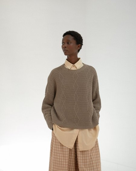 Mónica Cordera Cable Sweater - Taupe