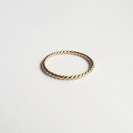 Nepheliad Twisted Stacker - 14k Gold