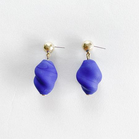 Crescioni Gina Earrings - Cobalt