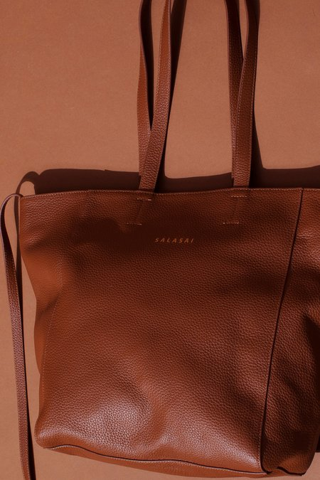 Salasai Disruption Leather Tote - Tan