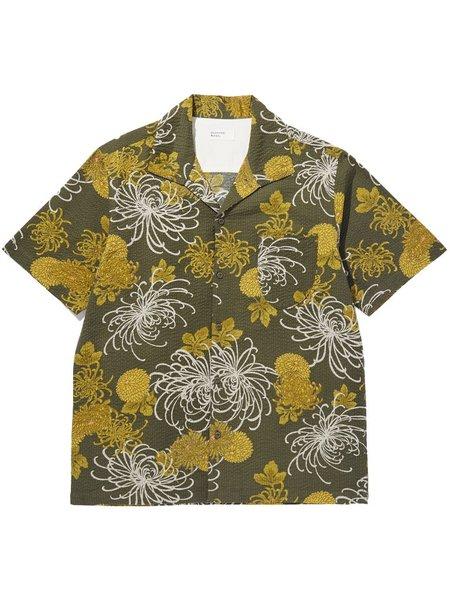 Universal Works Japanese Flower Shirt - Olive
