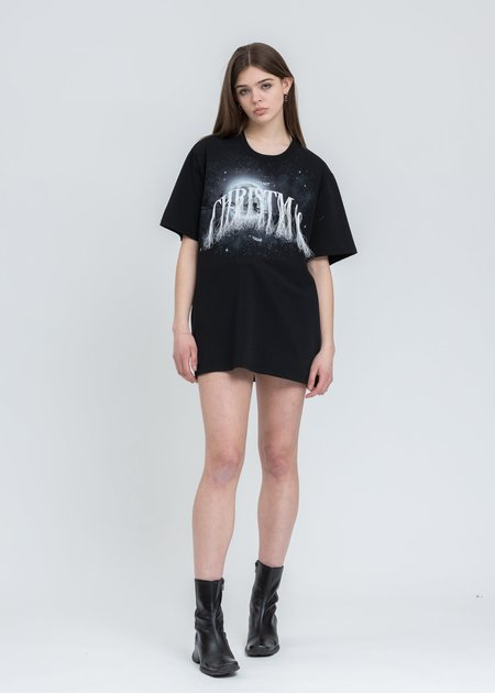 Doublet Not Christmas Embroidery T-Shirt - Black