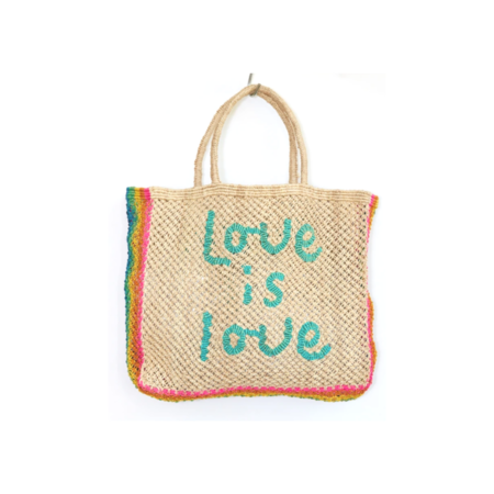 The Jacksons Love Is Love Beach Bag - Natural