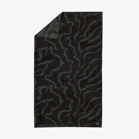 Patagonia Organic Cotton Tiger Tracks Camo TWL Towel - Ink Black