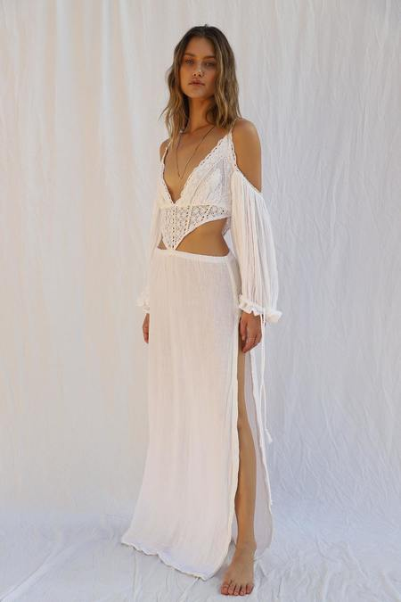 Jen's Pirate Booty Ocotillo Maxi Dress - White