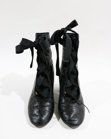 pre-loved Valentino The Ballerina Boot - black