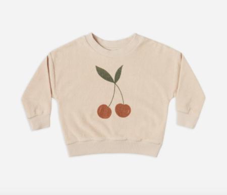 kids Rylee + Cru Terry Crewneck sweater - Cherry