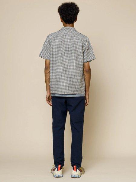 Folk Soft Collar Shirt - Windowpane Check