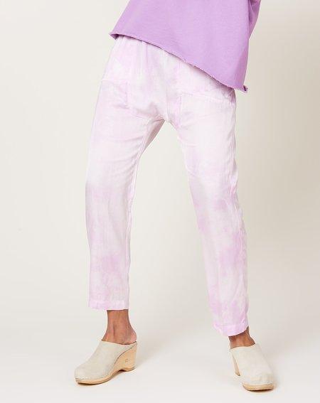 Raquel Allegra Sunday Pant - Lavender Cloudwash Tie Dye