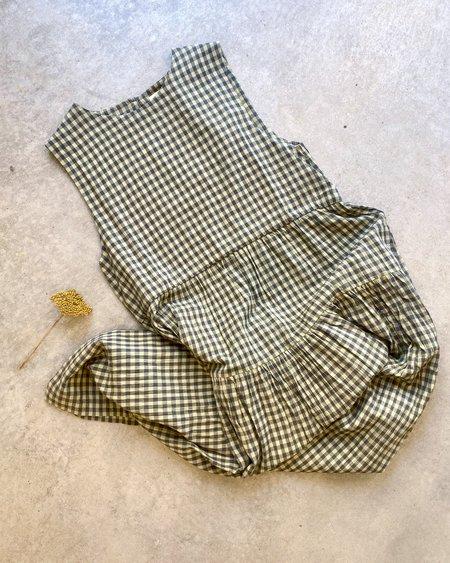 Micaela Greg Tier Dress - Organic Gingham