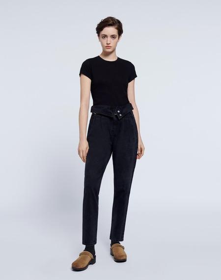 RE/DONE 80s Fold Over Jean - Vintage Noir