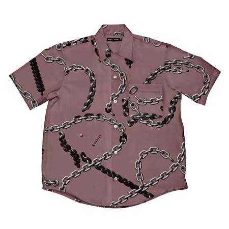 Raised by Wolves Chains Camp Shirt - Dusty Rose