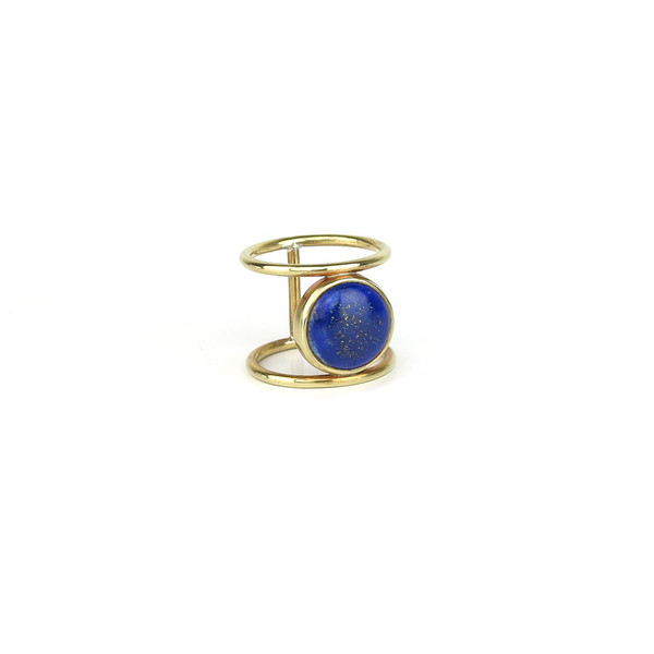 Claire Green Jewelry Oasis Ring // Lapis