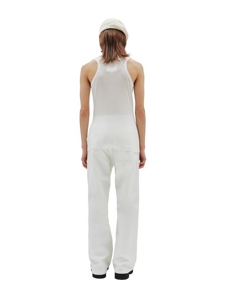 Maison Margiela Cotton & Silk Tank Top - White