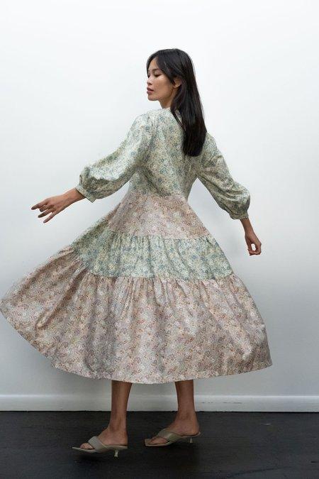 Kurt Lyle KLXTV Ayni Dress - Pink/Green Mini Floral Combo