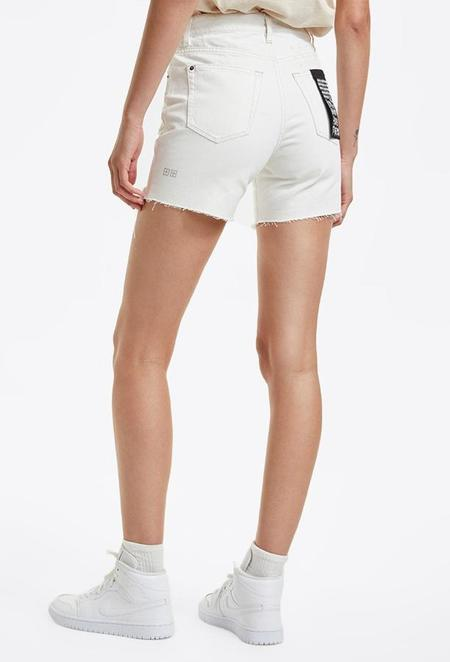Ksubi Racer Short Blizzard Trashed denim shorts - white