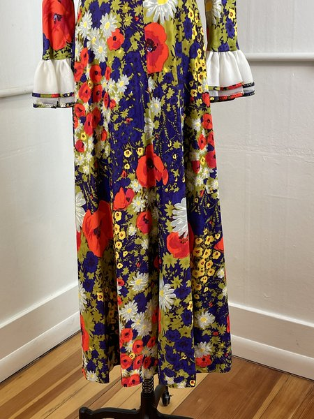 Vintage Montgomery Ward Floral Dress  - Multi