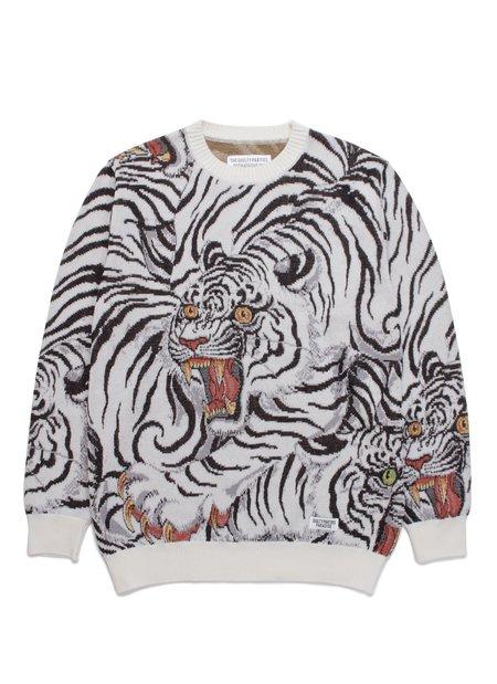 WACKO MARIA Tim Lehi Jacquard Sweater - White base