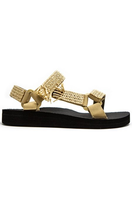 Arizona Love Trekky Rafia sandals - Natural