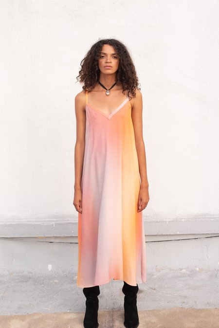 Veda Fiesta Dress - Sunset Ombre