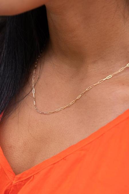 Satomi Kawakita Juno chain link necklace - 14K yellow gold