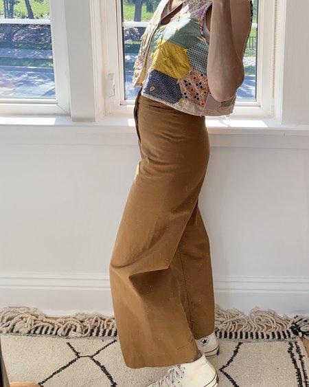 Klaxon Howl Sailor Organic Canvas Pant - Camel
