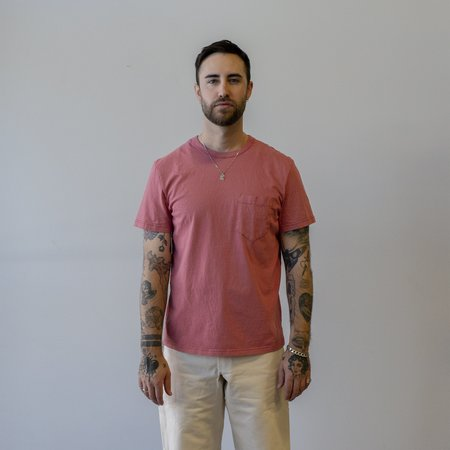 Homespun Knitwear Dad's Pocket Tennessee Jersey Tee - Red Fade