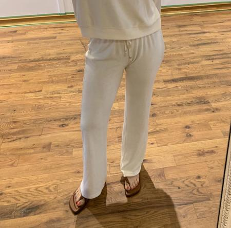 Donni Terry Wide Leg Pant - natural