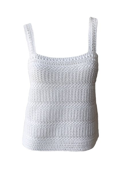 VINCE Crochet Cami - Optic White