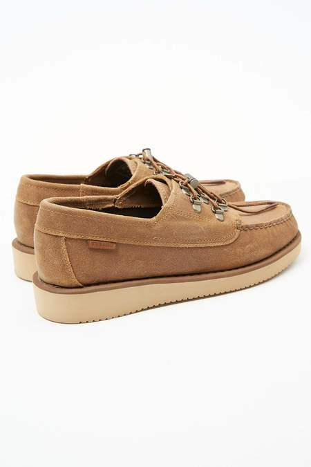 Engineered Garments x Sebago Men's Overlap shoes - Beige/Vibram Sole