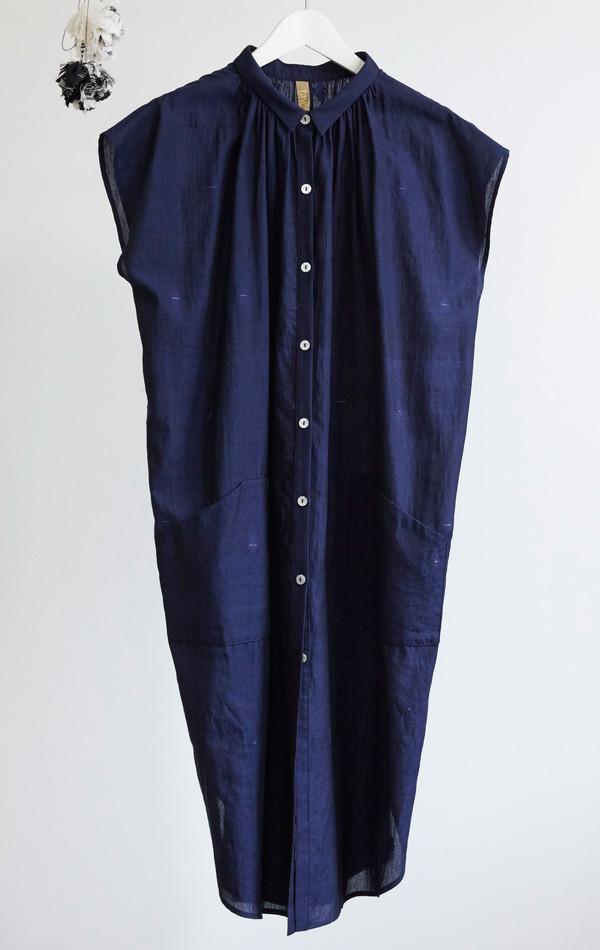 Two Grey handwoven pocket khadi dress