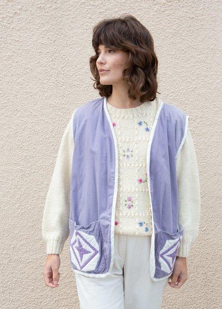 Vintage Quilt Vest - Lilac