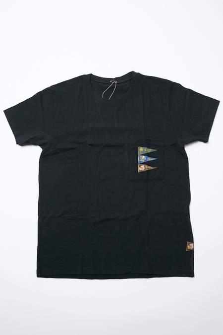 Kapital 20/- Jersey TORAMI-T 4 FLAGS top - Black